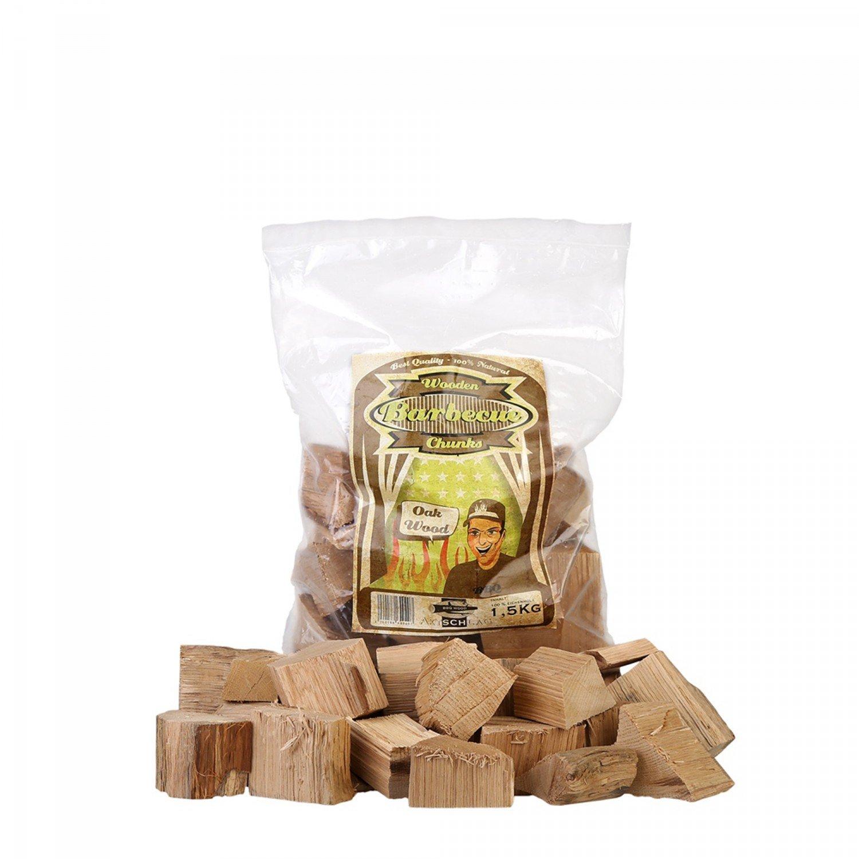 Axtschlag 100G04M0500V Räucherklötze, Oak Wood Chunks 1.5 Kg