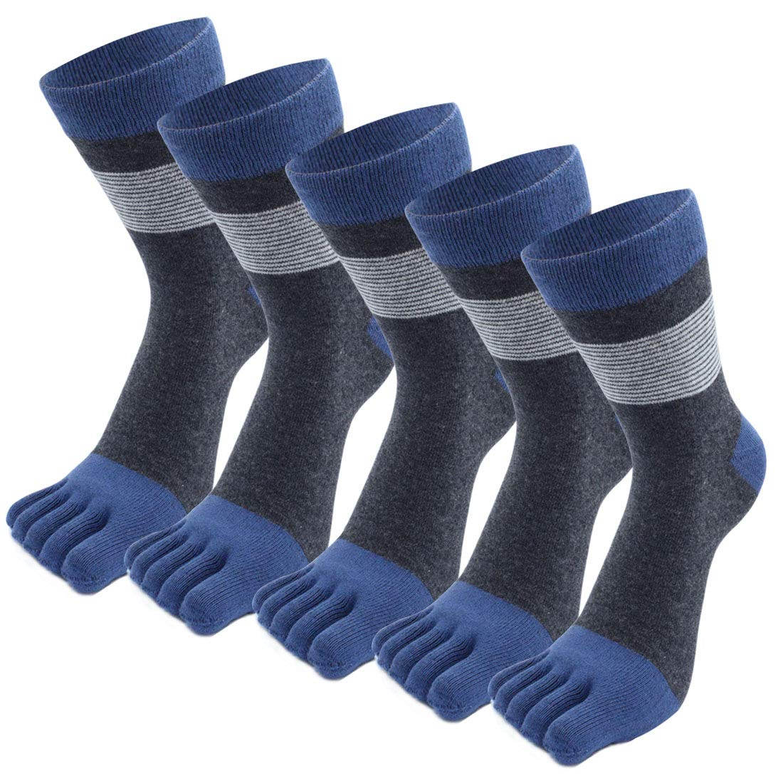 Calcetines Casuales De Algod/ón Para Hombres Calcetines Peque/ños MOAMUN 5 Pares De Calcetines De Cinco Dedos Para Hombres Suaves Y Transpirables Oto/ño E Invierno
