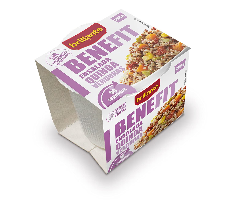 Brillante Benefit Ensalada Quinoa Verduras 200G - [Pack De 16] - Total 3200 Gr: Amazon.es: Alimentación y bebidas