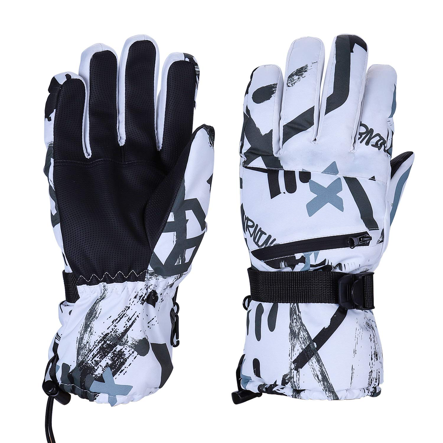 Auteve Ski Gloves Snowboard for Men Women, Touchscreen 3M Thinsulate Insulated Windproof Waterproof Breathable