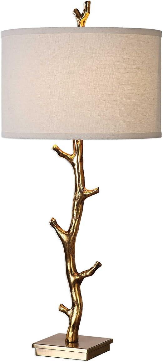 Uttermost Javor Antiqued Gold Tree Branch Metal Table Lamp