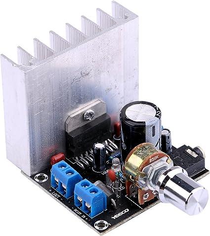 Yeeco TDA7377 DC 12V 35W + 35W Junta Amplificador de Potencia de Audio Digital 2.0 Estéreo