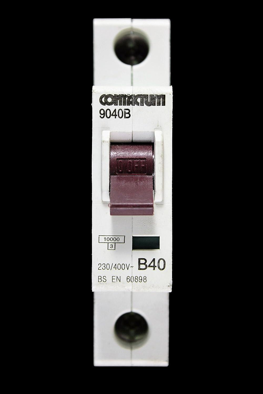 CONTACTUM 40 AMP TYPE C 6 kA MCB CIRCUIT BREAKER 9040c  New