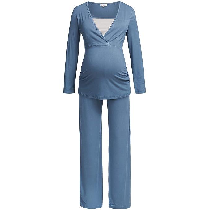 Herzmutter Pijama de Pijama de Pijama de enfermería para Mujer, Composición de Material Extra Suave