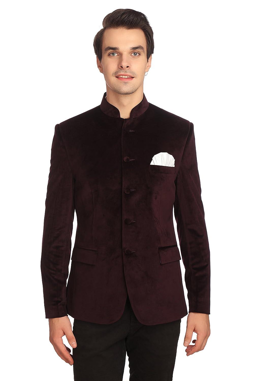 Wintage Men's Velvet Grandad Nehru Blazer Coat Jacket Velvet301