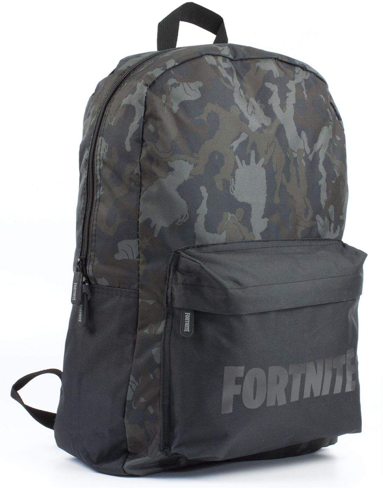 Character Emote Camo Llama All Over Print Black/Khaki Backpack Bag