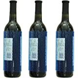YELAIYEHAO Mesh Wine/Liquor Bottle Protective Sleeves Royal Blue 30 pcs (BLUE, 7INCH)