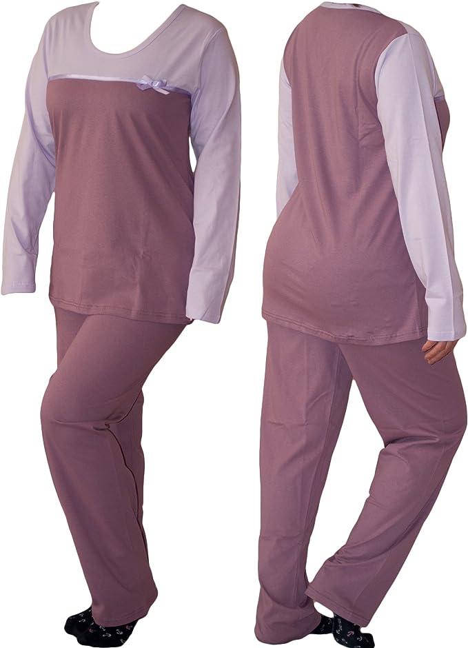 Dazoriginal Conjunto de Pijama Mujer Invierno Algodon Ropa Dormir ...