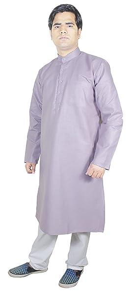 RoyaltyLane Camisa de Vestir Hombre Pijama Color Púrpura Manga Larga Algodón Vestidos Fiesta Hombre