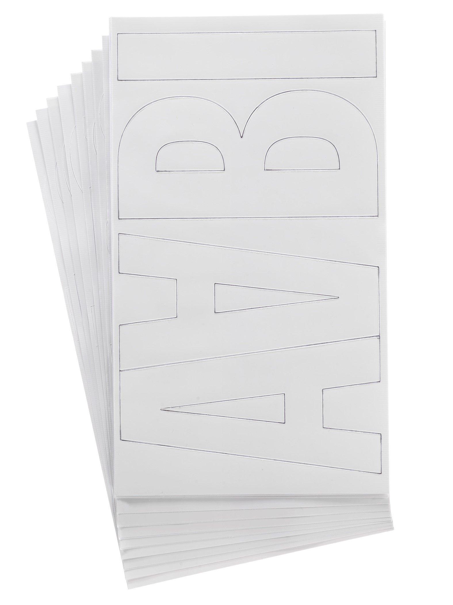Westcott LetterCraft Permanent Vinyl Lettering Franklin Gothic 6-Inch, White (15865) by Westcott