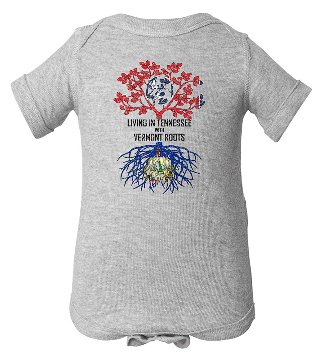 Tenacitee Babys Living in Tennessee Vermont Roots Shirt