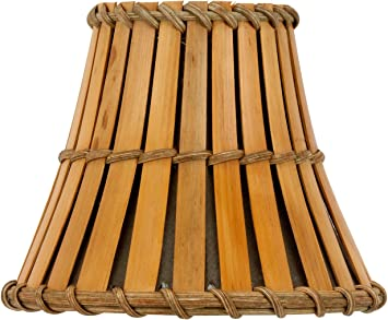 Upgradelights Bamboo Style 6 Inch Mini Clip On Chandelier Lamp Shades 4x6x5
