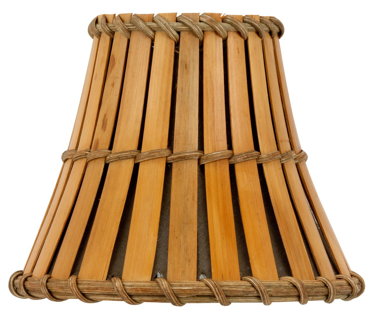 Upgradelights Bamboo Style 5 Inch Chandelier Lamp Shade 3x5x4.5