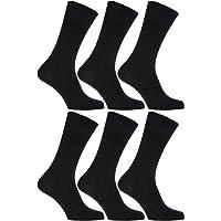 Severyn Calcetines sin elástico suaves hombre/caballero Aptos para diabéticos - Paquete de 6 pares de calcetines