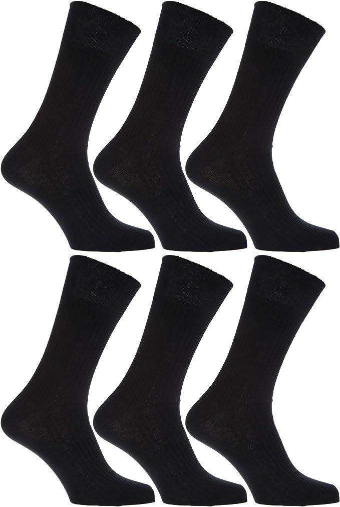 6//12 PAIRS LUXURY MEN/'S NON-ELASTIC SOCKS COMFORT SIZE 6-11 100/% COTTON