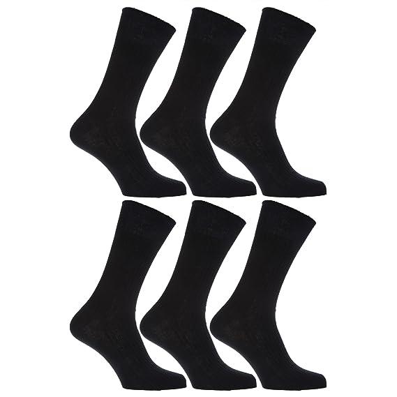 Severyn Calcetines sin elástico suaves hombre/caballero Aptos para diabéticos - Paquete de 6 pares de calcetines: Amazon.es: Ropa y accesorios