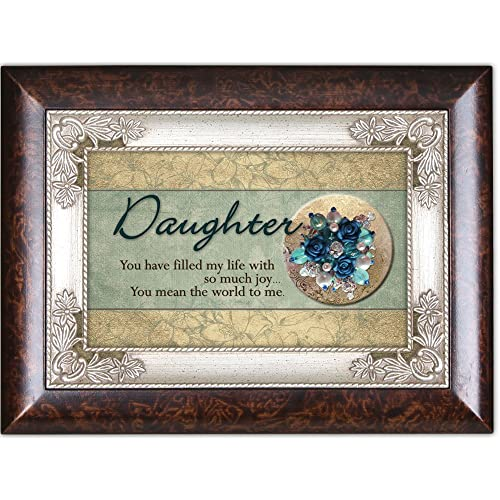 Cottage Garden Daughter Burlwood Italian Inspired Traditional Music Box Plays Light Up My Life