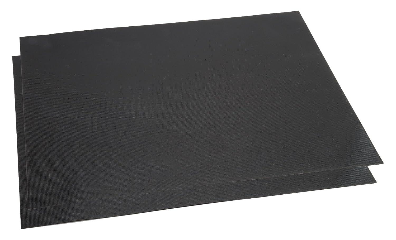 Classic Cuisine Non-Stick Reusable BBQ Grill Mat, Set of 2, Black 82-30X40