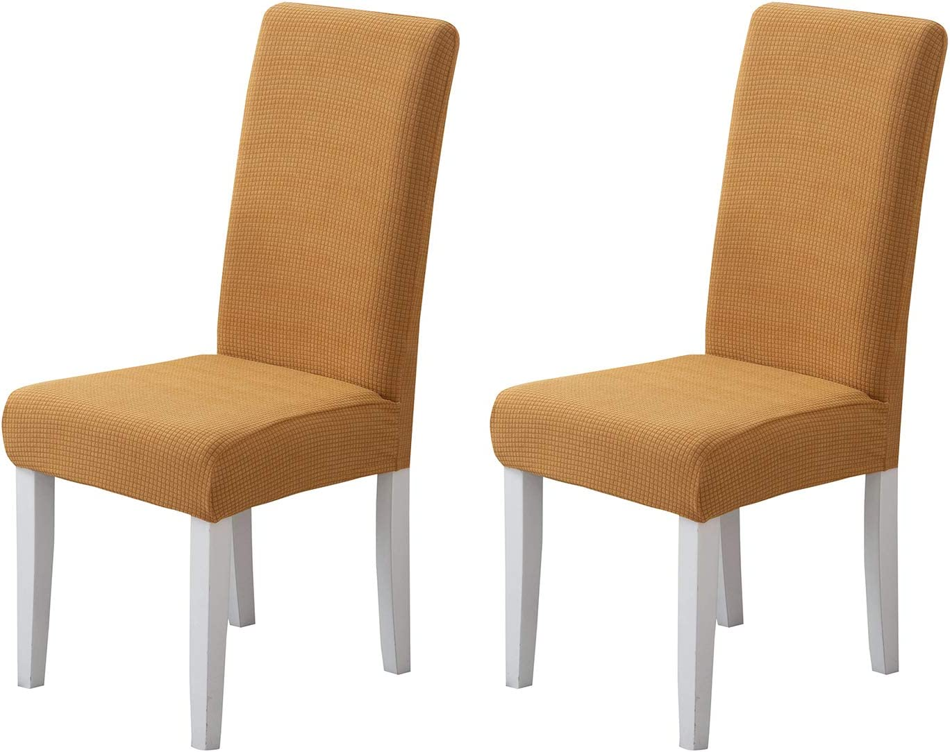 Pack of 2 - Dining Room Chair Slipcovers, Stretch Spandex Dining Chair Covers, Furniture Protector Covers Removable & Washable, Perfect for Dining Room, Restaurant, Hotel, Ceremony, Event Khaki