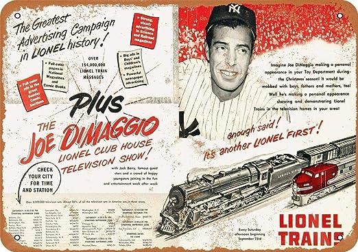 """Lionel Trains 12/"""" x 9/"""" Vintage Aluminum Sign"""