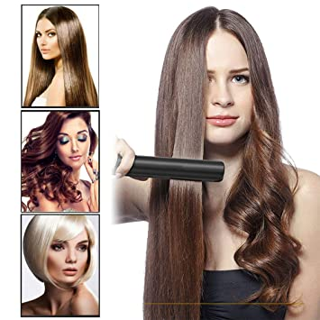 56a99f696 Amazon.com   Black Professional Hair Straightener Ceramic Iron ...