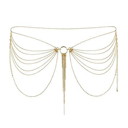 Bijoux Indiscrets Magnifique - Hüftkette / Brustkette als edler Körperschmuck, gold