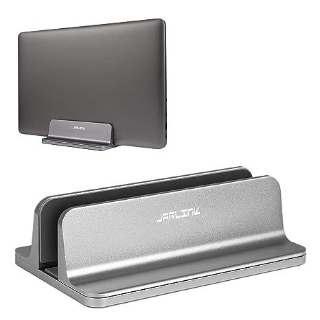 Jarlink - Soporte vertical para ordenador portátil con base ajustable para Macbook Pro/Air Microsoft