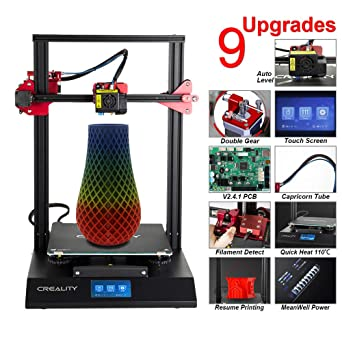 ENOMAKER Creality CR-10S Pro 3D Printer Upgraded with Auto Leveling, Touch  LCD, Double Gear Extrusion, Resume Printing, Filament Detection