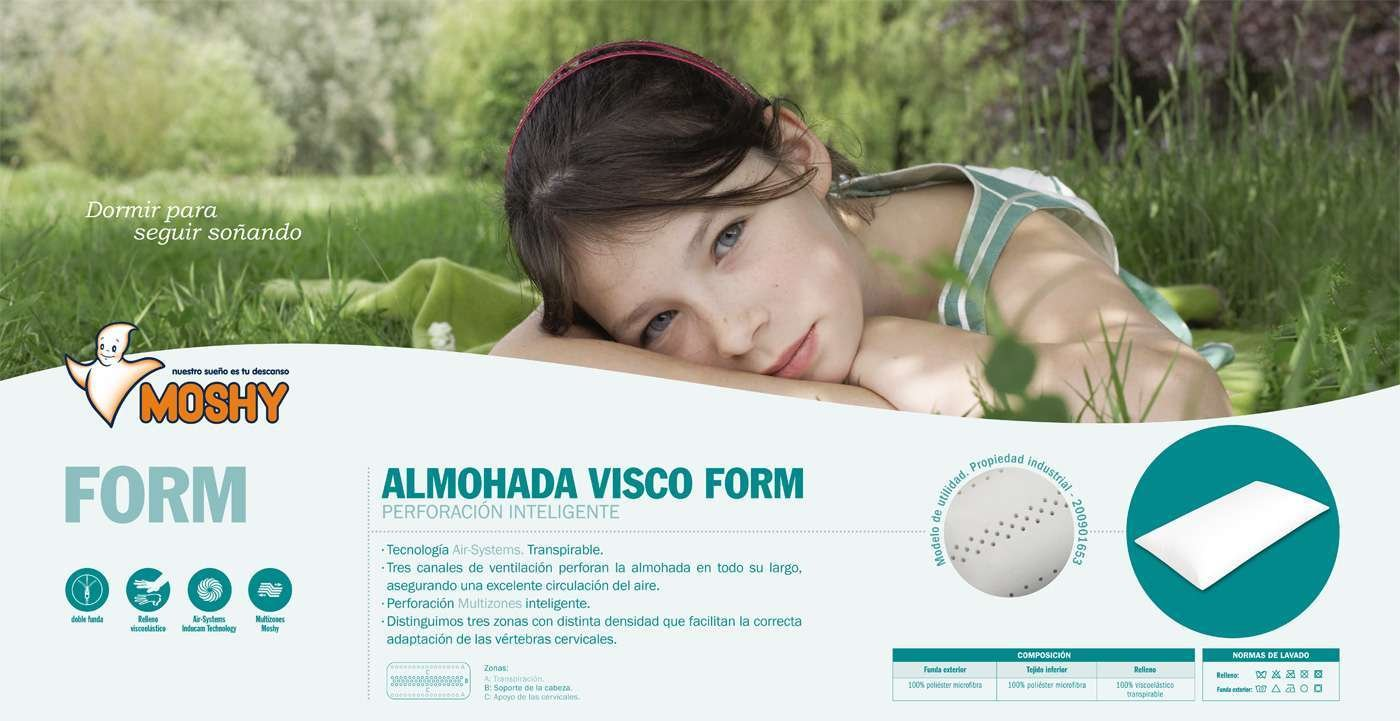 LA WEB DEL COLCHON - Almohada Visco Form 70 x 40 x 12 cms.: Amazon.es: Hogar
