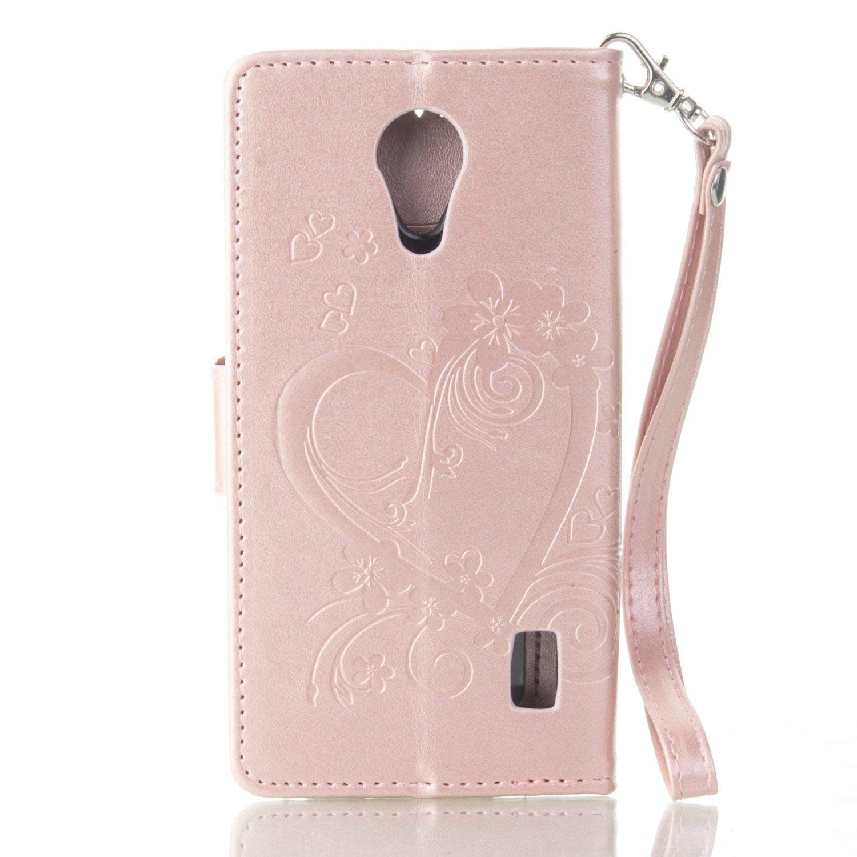 pinlu® Funda para Huawei Y635 (5pulgada) Smartphone Flip Billetera ...