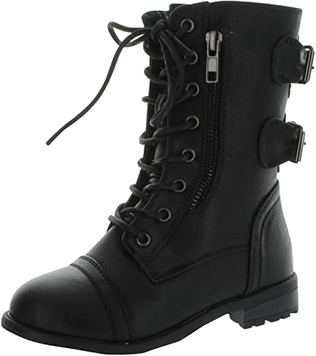 Amazon.com | Link Mango-61K Girls Zipper Military Combat Boot | Boots