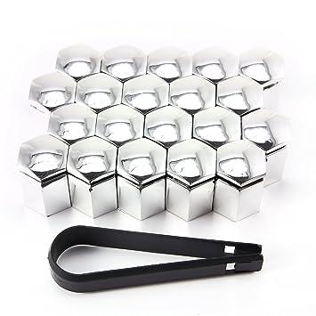 20 x 17 mm Juego de tapacubos – Rueda Tornillos Tuercas Tornillos cubierta tapas de cromo