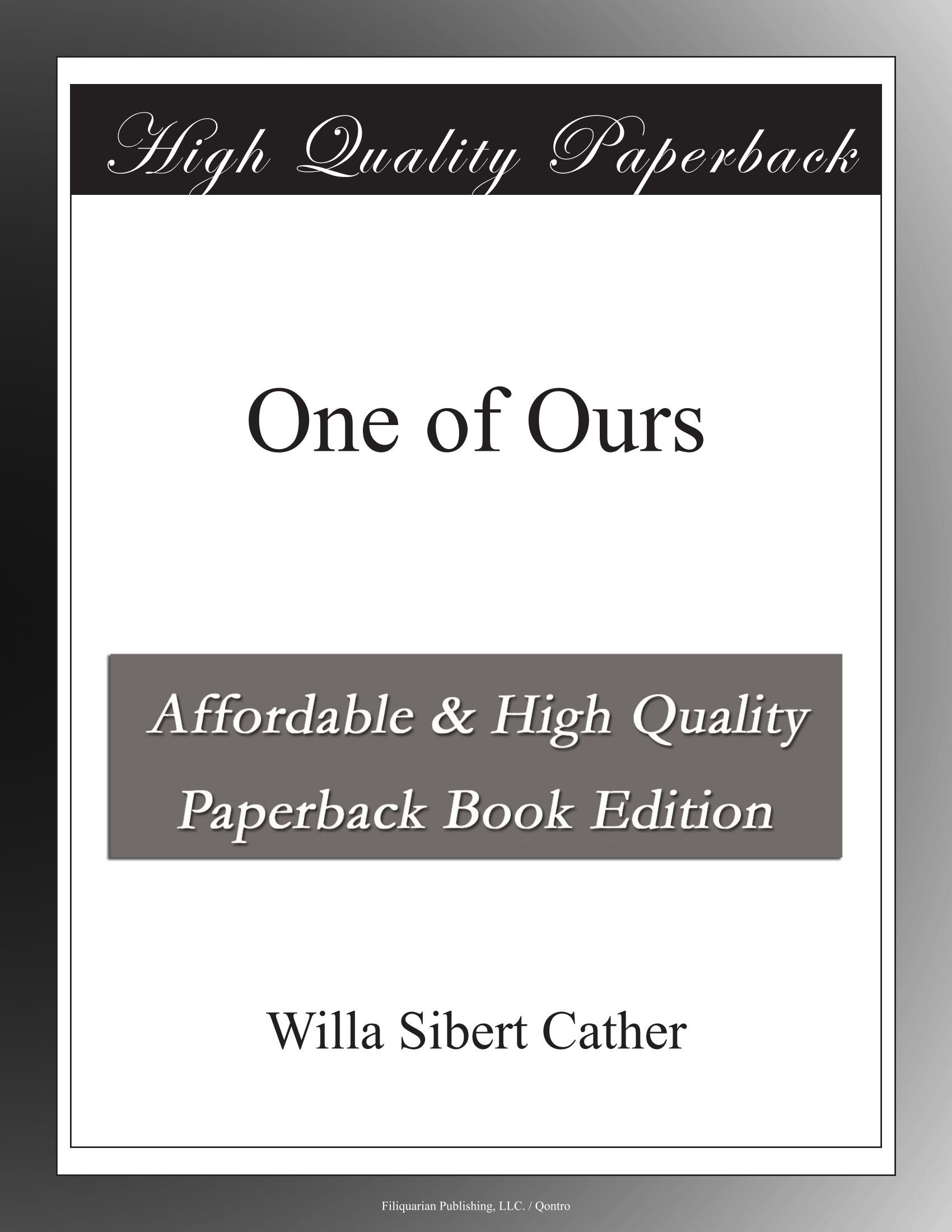 Download One of Ours pdf epub