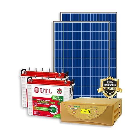 Urbanurja Utl Solar Pcu Gamma 1000va 1kva 24v Mppt Off Grid Smart Inverter With 325 Watts Polycrystalline Panel C10 Battery Ust1560 12v Amazon In Garden Outdoors