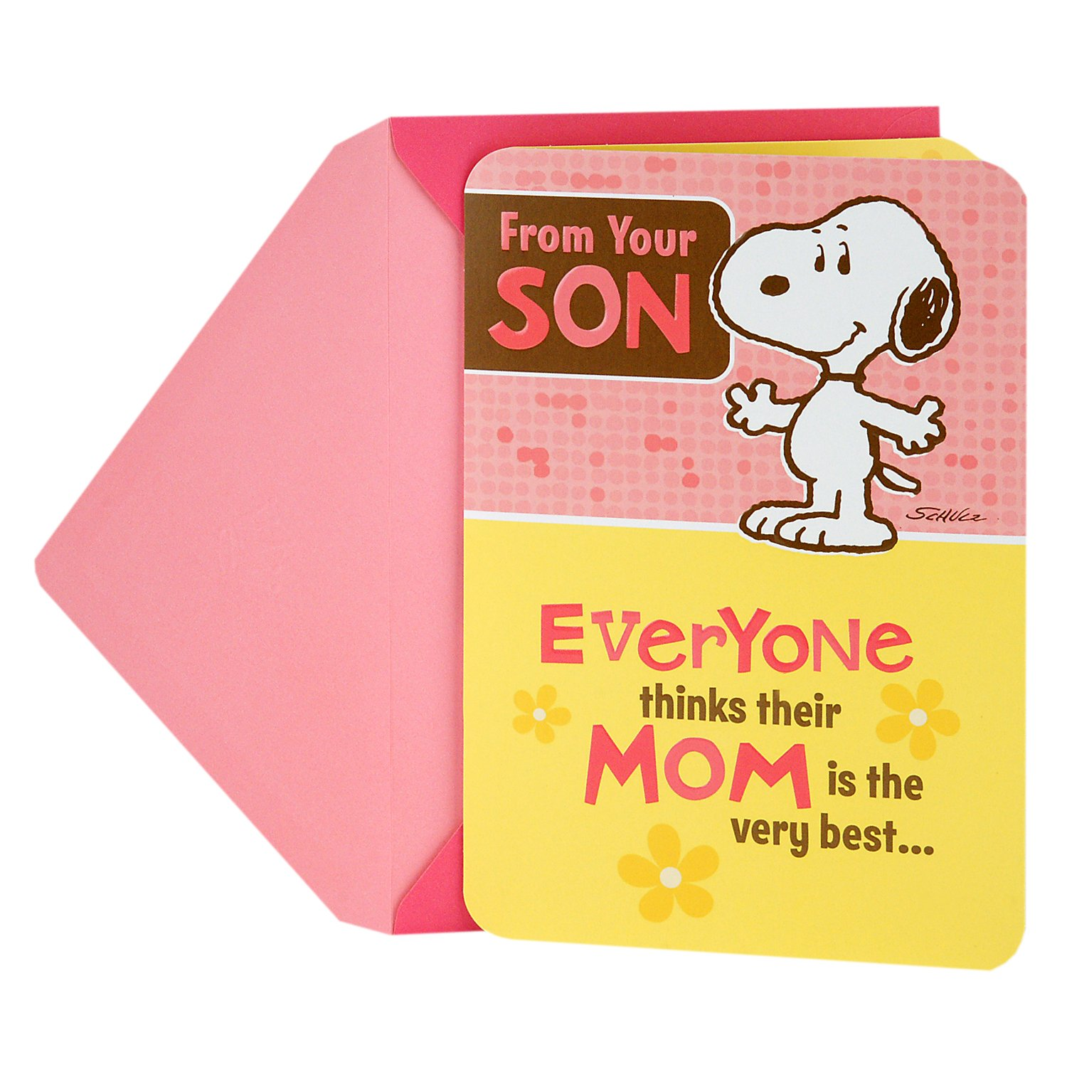 Hallmark Mothers Day Funny Greeting Card From Son Snoopy