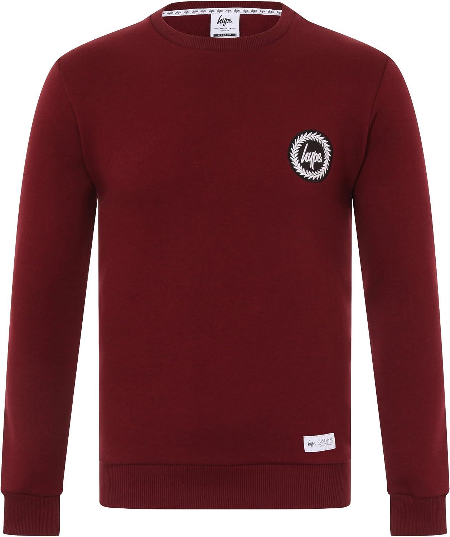 Hype Sweat shirt à capuche Homme rouge bordeaux XX Small
