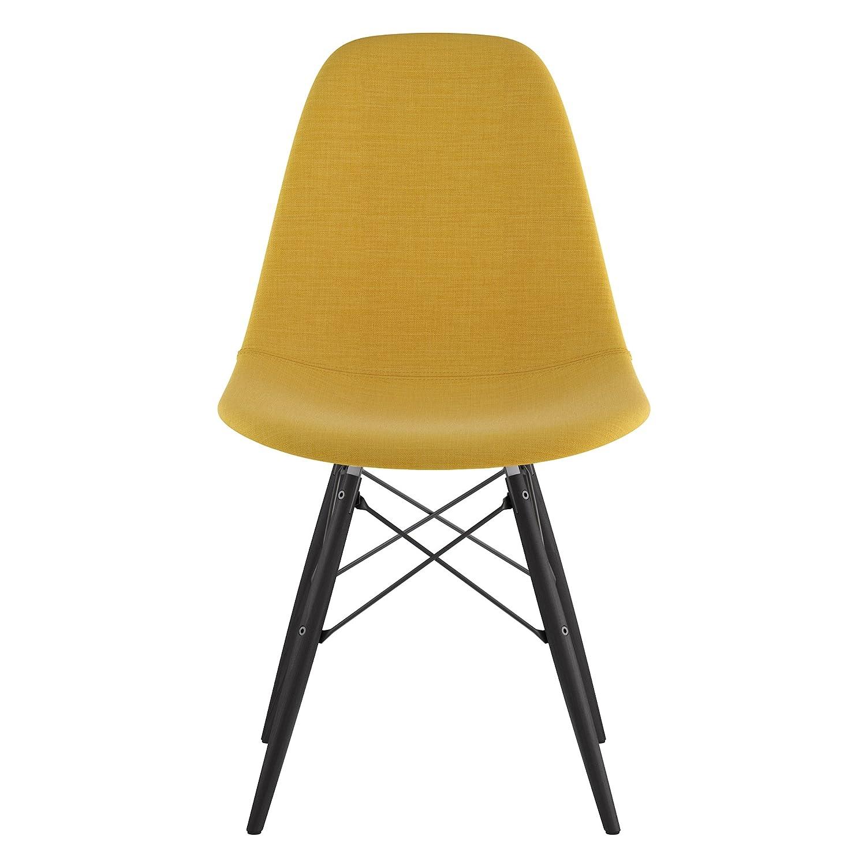Papaya Yellow NyeKoncept 331003EW3 Mid Century Dowel Side Chair
