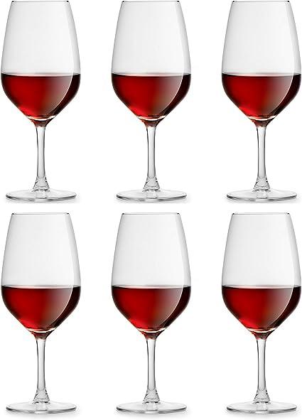 Copa de vino Varna de Libbey - 42 cl / 420 ml - 6 Unidades - Resistente al Lavado en Lavavajillas