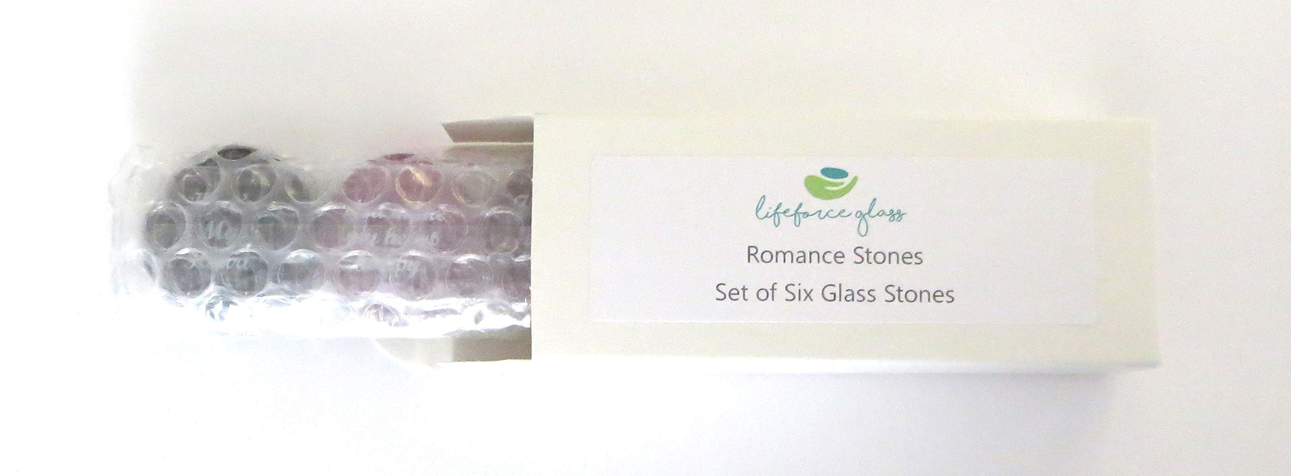 Romance Glass Stones, Messages of Love and Affection For Your Beloved. Set of Six, by Lifeforce Glass. by Lifeforce Glass (Image #3)