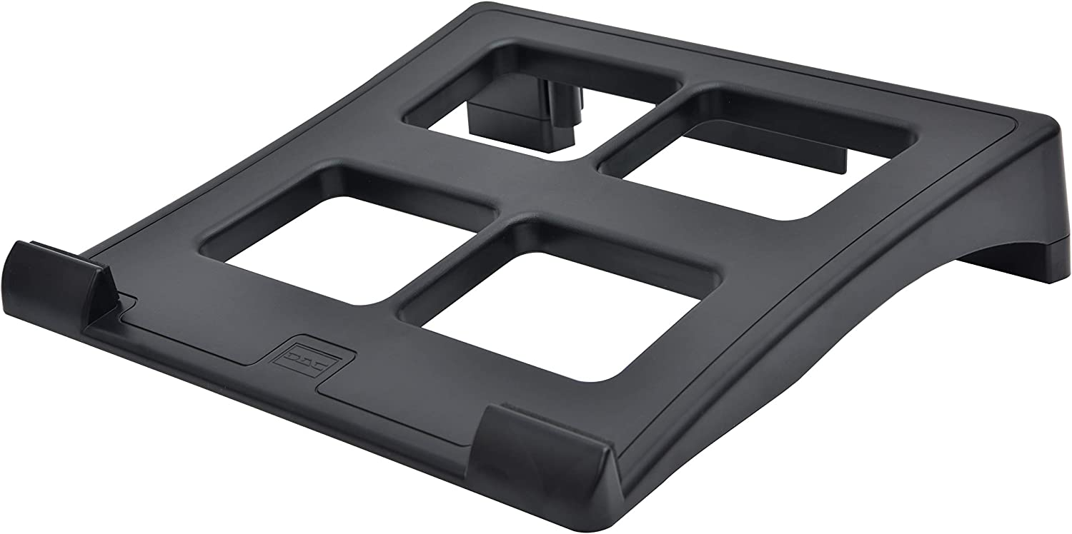 DAC Ventilated Height and Angle Adjustable Laptop Stand Riser for Desk, Non-skid, Cable Management Included