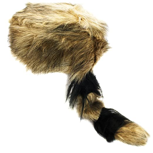 b1d553f244c Amazon.com  Coonskin Cap - Daniel Boone Hat Raccoon Tail Hats Novelty Hat  by Funny Party Hats  Clothing