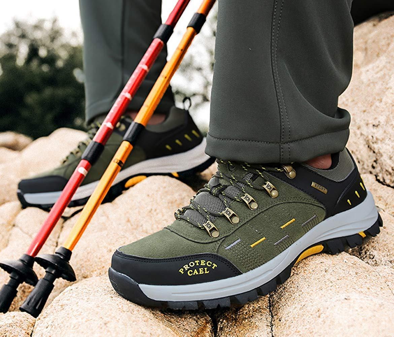 Männer Männer Männer Wanderschuhe Stiefel Leder Wanderschuhe Turnschuhe Für Outdoor Trekking Training Beiläufige Arbeit (Farbe   10, Größe   40EU) 7e0566