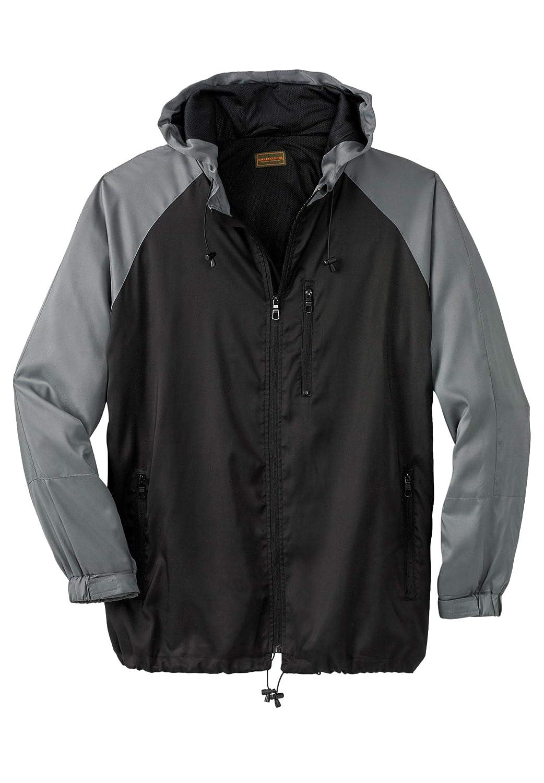 Boulder Creek by Kingsize Mens Big /& Tall Lightweight Windbreaker Jacket