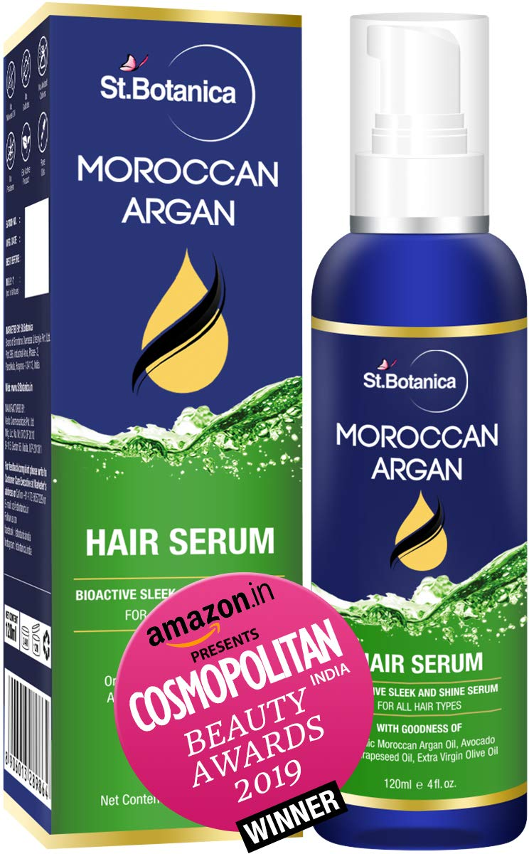 StBotanica Moroccan Argan Hair Serum   Nourishing and Frizz Control Serum  With USDA Organic Argan Oil 9ml
