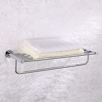 Amazon.com: Charmingwater Metal Bathroom Towel Rack with Towel Bar ...
