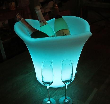 XXL LED beleuchteter RGB Sektkühler Champagnerkühler