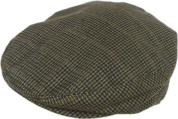 Wool Blend Plaid Hounds Tooth Ivy Cap 5 Point Scally Driver Hat Newsboy 5bdd0e34db2d