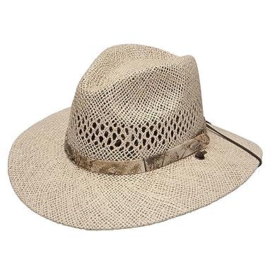 79fac1851 Stetson Men's Costner Straw Hat