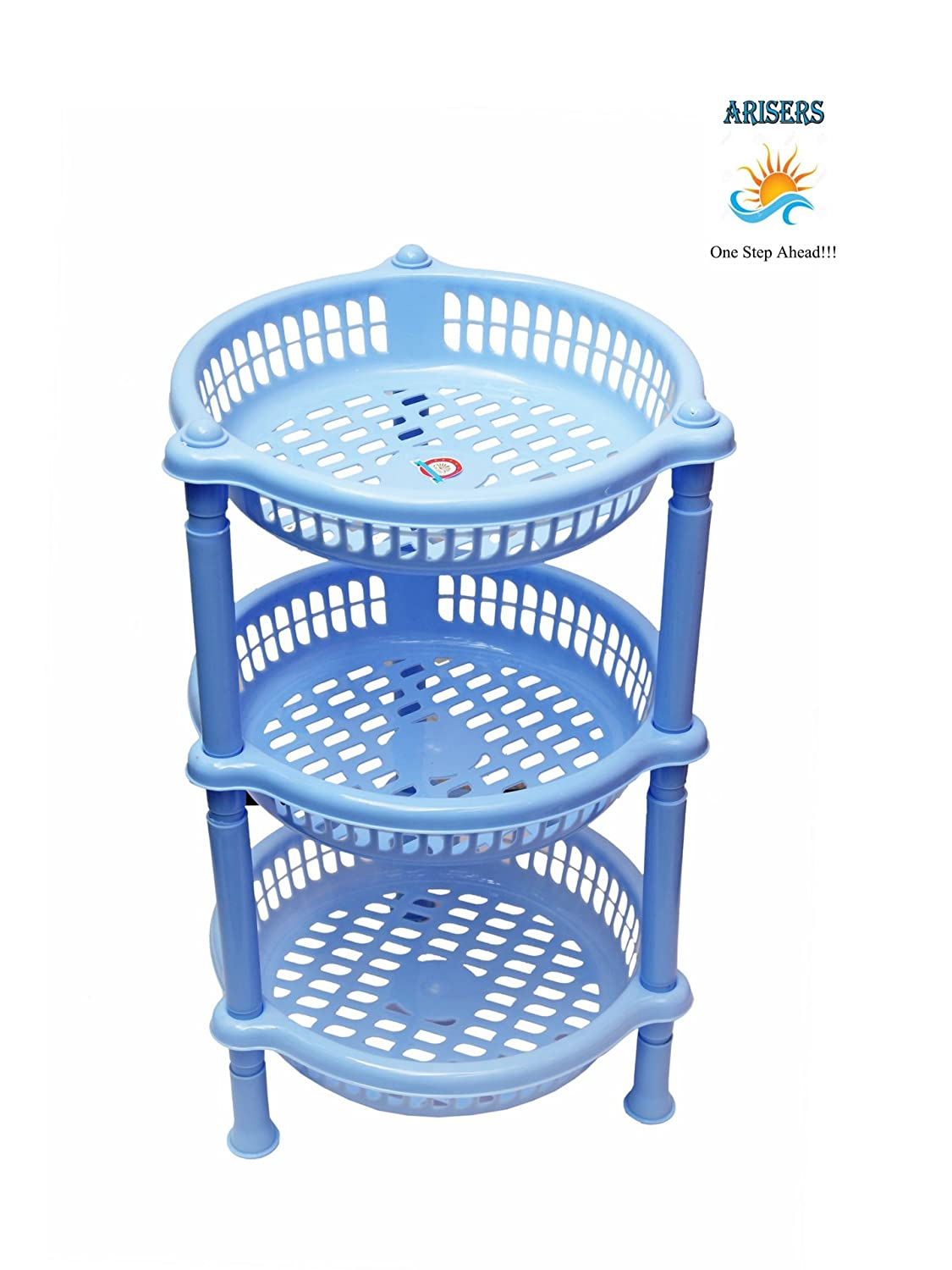Arisers Plastic Rack Kitchen Fruit And Vegetable Basket Storage ...