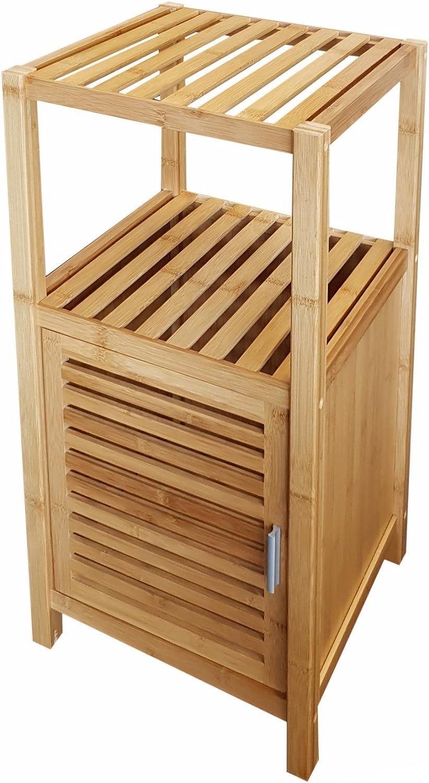 osoltus bambú Baño Estantería baño Armario marrón 80 cm: Amazon.es ...